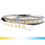 5 meter Dual White led strip Premium met 60+60 leds - losse strip