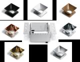 Trimless spot - Aluminium - Wit - GU10 - IP20 - Enkel, met diverse reflectoren naar keuze
