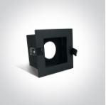 Instelbare klassieke inbouwspot vierkant - IP20  50W  GU10 - Zwart