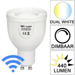 Milight Wifi led spot Dual White 5 Watt GU10 fitting