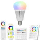 RGBWW Wifi LED lamp set met afstandsbediening 9W E27