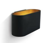 LED Wandarmatuur- G9-Aluminium- zwart/goud- OVAAL