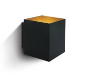 LED Wandarmatuur- G9-Aluminium- zwart/goud- VIERKANT