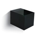 LED Wandarmatuur- G9-Aluminium-zwart-VIERKANT