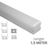 Led strip profiel opbouw Hoog model - compleet met afdekkap 1,5 meter - 16 mm hoog