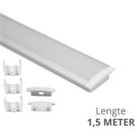 Led strip profiel inbouw Laag model - compleet inclusief afdekkap - 1,5 meter - 7 mm hoog
