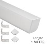 Ledstrip profiel hoek Breed recht model compleet met afdekkap 1 meter