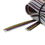 15 meter losse RGBWW kabel 6-aderig