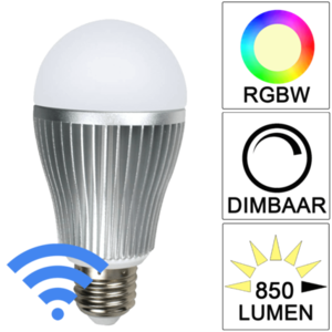 Milight Wifi led lamp RGBW 9 Watt E27 fitting