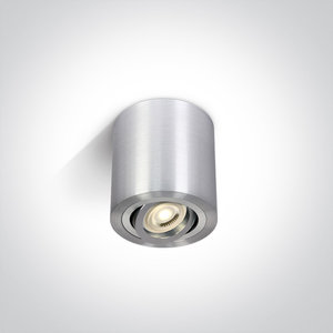 Plafond spot opbouw rond - IP20 10W GU10 - Aluminium