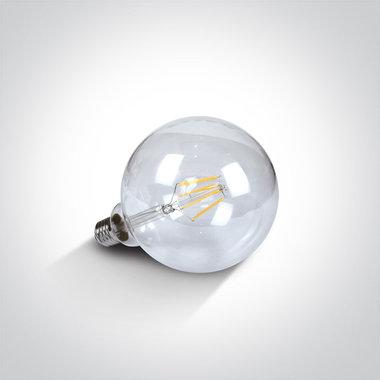 LED RETRO lamp 2700K - 5W - E27 - Extra warm licht - Dimbaar