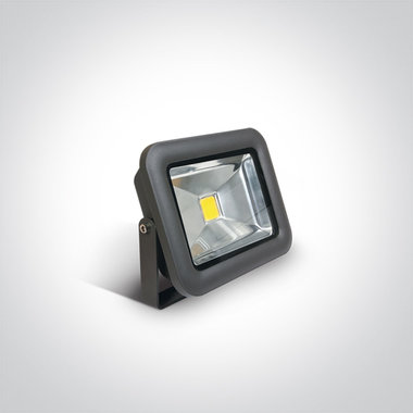 COB LED breedstraler IP65 - 10 W Wit licht - Antraciet