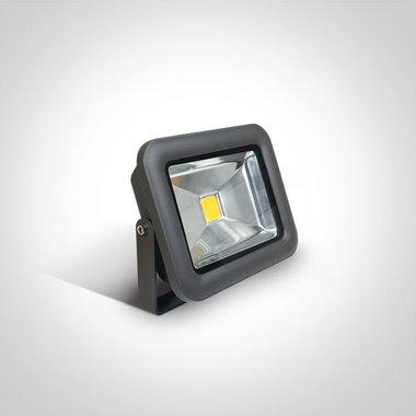 COB LED breedstraler IP65 - 20 W Wit licht - Antraciet