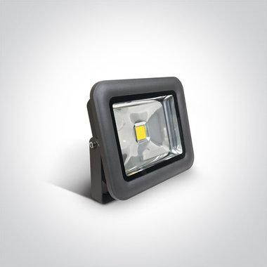 COB LED breedstraler IP65 - 30W Dag licht - Antraciet