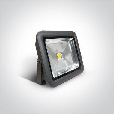 COB LED breedstraler IP65 - 50W Dag licht - Antraciet