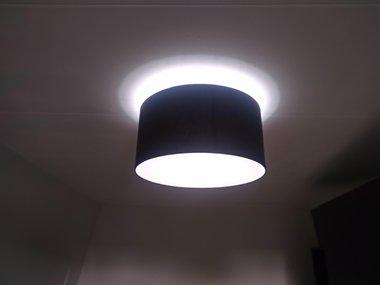 Plafondspot M60-Zwart-E27 met blender