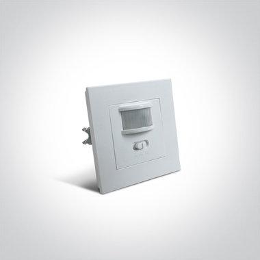 Bewegingssensor infrarood wit inbouw 230V-160°-9m-200W