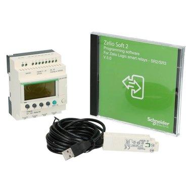 Starterkit Zelio PLC Kit met klok 10I-O 6in 4uit met scherm 100-240VAC