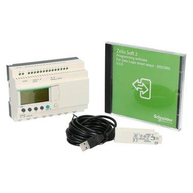 Starterkit Zelio PLC Kit met klok 26I-O 16in 10uit met scherm 100-240VAC