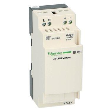 Dinrail voeding 24VDC uit 100-240VAC in 0.6A 15Watt
