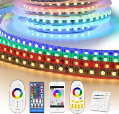 5 meter RGBW led strip complete set - Premium 360 leds