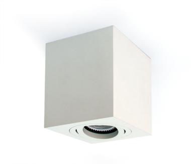 Plafond spot opbouw vierkant - IP20 10W GU10 - Wit