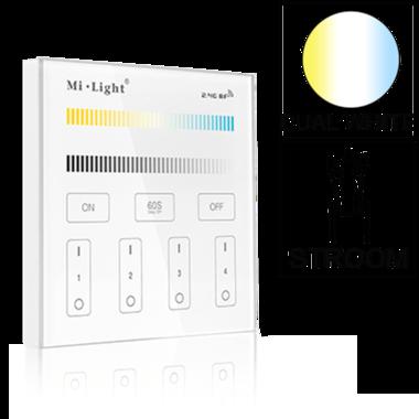 Milight 4-zone Dual White afstandsbediening paneel touch stroom