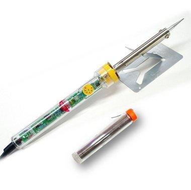Soldeerset voor led strips met instelbare soldeerbout standaard en tin