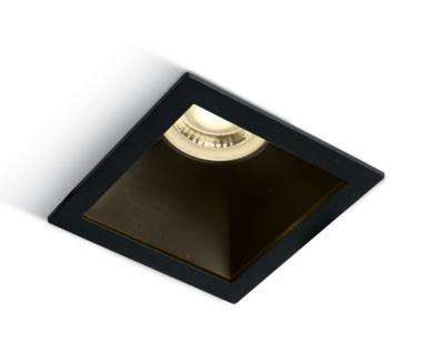Inbouw spot behuizing vierkant - IP20 GU10 - Zwart - Reflector Zwart