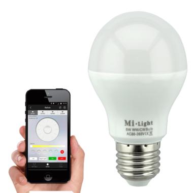 Milight Dual White Led lamp set met Wifi module - 6W E27 fitting