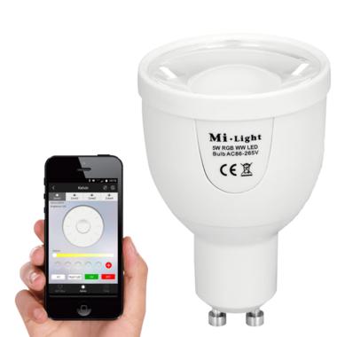 Milight led spot set Dual White met Wifi module 5 watt GU10