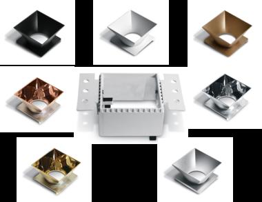 Trimless spot - Aluminium - Wit - GU10 - IP20 - Enkel, met reflector naar keuze