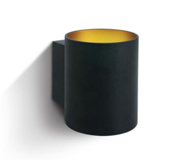LED Wandarmatuur- G9-Aluminium- zwart/goud- ROND