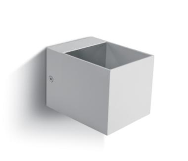 LED Wandarmatuur- G9-Aluminium-wit-VIERKANT