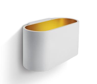LED Wandarmatuur- G9-Aluminium- wit/goud- OVAAL