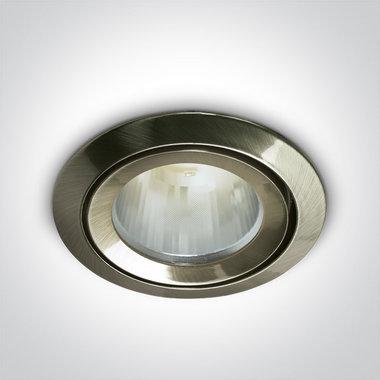 LED inbouwspot behuizing - IP43  50W  GU5.3 - Antiek messing