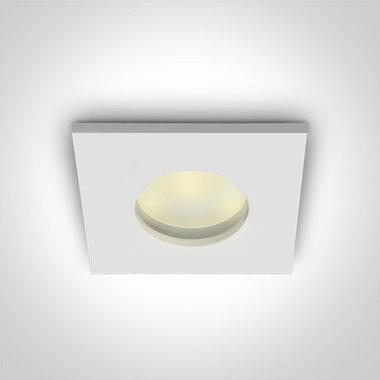 Badkamer inbouwspot behuizing vierkant - IP44  50W  GU5.3 - WIT