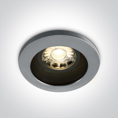 Badkamer inbouwspot behuizing rond - IP65-50W-GU10-Grijs