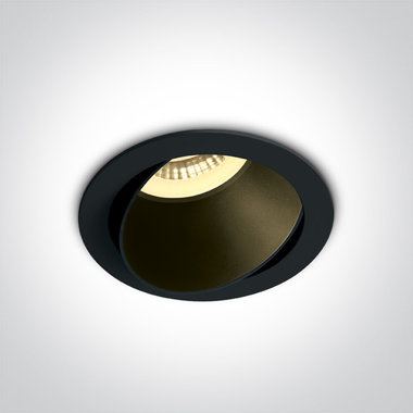 Instelbare inbouwspot rond - IP20 GU10 - Zwart - Reflector Zwart