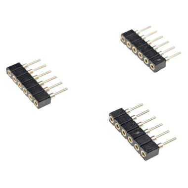 3 x RGBWW stekker 6-pins type vrouw