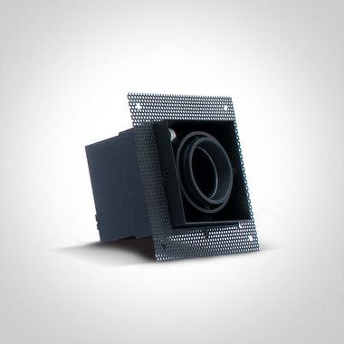 Trimless spot - Aluminium - GU10 - IP20 - Enkel - zwart