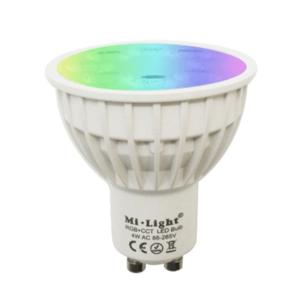 Milight Wifi led spot RGBWW 4 Watt GU10 fitting