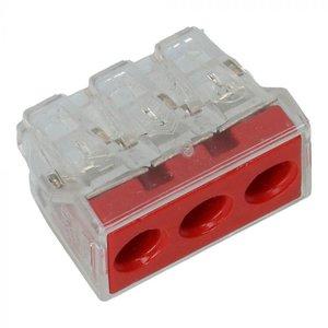 3 draads verbindingsklem 6 mm2 Wago  - 50 stuks