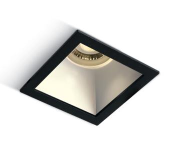 Inbouw spot behuizing vierkant - IP20 GU10 - Zwart - Reflector Wit
