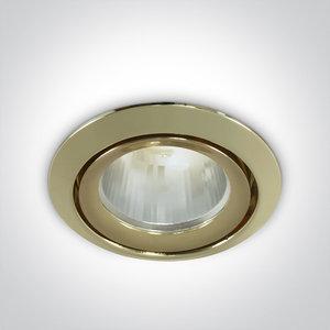 LED inbouwspot behuizing - IP43  50W  GU5.3 - Messing