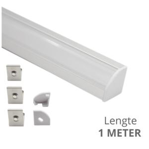 Ledstrip profiel hoek Slim line - compleet inclusief afdekkap 1 meter