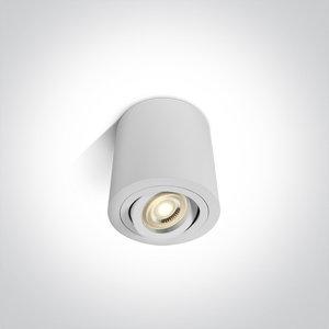 Plafond spot opbouw rond - IP20 10W GU10 - Wit