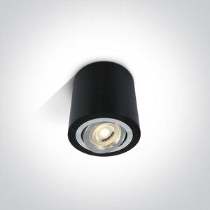 Plafond spot opbouw rond - IP20 10W GU10 - Zwart