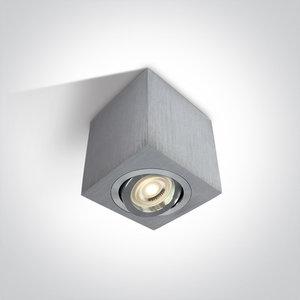 Plafond spot opbouw vierkant - IP20 10W GU10 - Aluminium