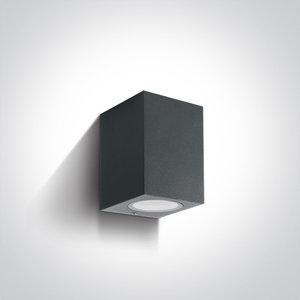 Wand spot rechthoek downlight - IP65 - 7W - GU10 - Antraciet